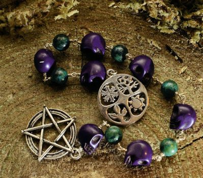 13 Bead Witch's Ladder with Seasons by EldritchEmporium