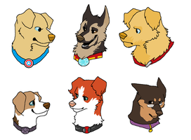 Dogvengers assemble by FourDirtyPaws