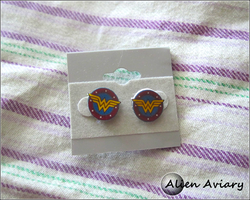 Wonder Woman Earrings by alienaviary
