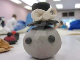 Sculpey Pet Rock Top Hat by LuckyPenny13