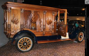 Gorgeous Wood Carved Antique Hearse by DamselStock