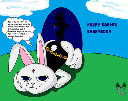 Bunny Raven Happy Easter... But Not Proud Of It by MasterghostUnlimited