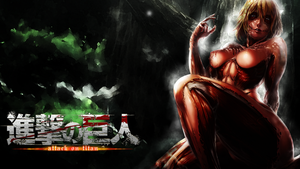 Attack on Titan - Female Titan Wallpaper by QuasiXi