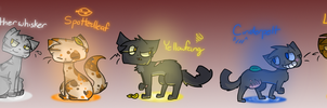 All ThunderClan Medicine Cats by bad-egg-pun