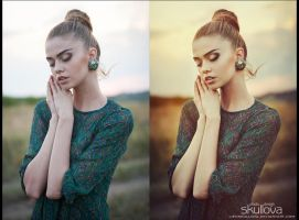 Portrait Retouch (sunset) by LienSkullova