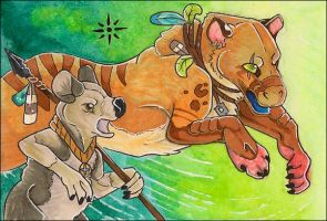 ACEO - Into the Fray by awaicu