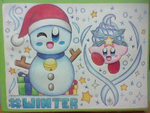 :Kirby: Snow Bowl - Happy Winter by SuperMarioFan888