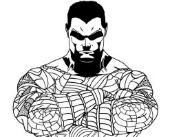 IGaU  Black Adam  Lines by YinYanks-YangYips