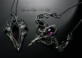 Jewelry by Lunarieen UK - silver , amethyst by LUNARIEEN