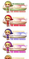 TLoZ WW bookmarks by Schieska