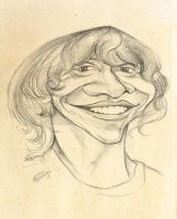 Rupert Grint caricature sketch by lufreesz