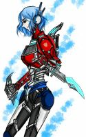 Genderbend Humanized Optimus by flytonowhere