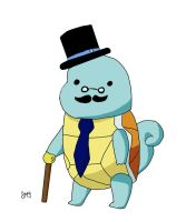 Sir Squirtle (Sirtle) by SerenatheArtist