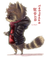 pachiro the raccoon's day out :: by makiyan