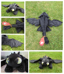 Toothless Plushie 3 by Fallenpeach