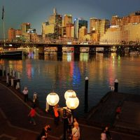 Darling Harbour at Dusk by GarrettBrothers