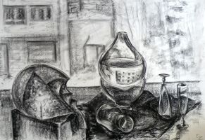 Still life with glass objects by HasegawaVega