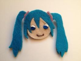 Miku Hatsune Pin by MotherMcKarther