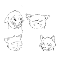 Some sketch faces by Speck--Of--Dust