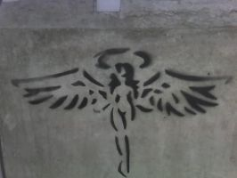 Concrete angel by Tetras