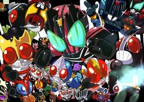 All Kamen Rider Chibi :3 by Kiba068