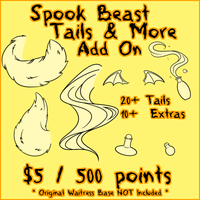 Spook Beast TAILS AND MORE ADD ON by Omega-Fluff