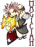 Fairy Tail Badge: 'Magician' by ScuttlebuttInk