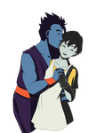 Gohan and Viel by pixielog