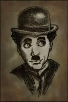 Robert Downey as Chaplin by YelllowEl