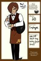Jakiel Smith App AU Coffee shoppe by GingerQuin