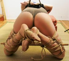 priss spread with kali stick (view from behind) by Sir-Darcy