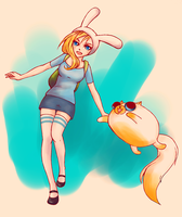 Fionna and Cake by mapchild
