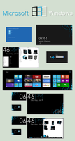 Windows 8 D4rK - Icons and Wallpapers by D4rKlar