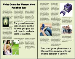 Magazine Spread Women Gaming Article by mjb1225