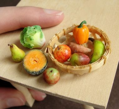 Dollhouse Produce by fairchildart
