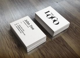 Realistic Business Card Mock-Up by GraphicBurger