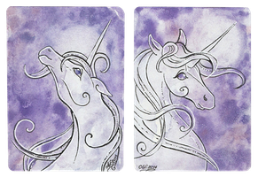 ATC pair Moon Unicorns by Haawan