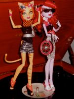 Monster High Retro Ghouls by invader-hime