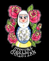 Sister Christian Sticker by after-the-funeral