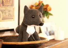 Grey Fox Plush V2 by MyBeautifulMonsters