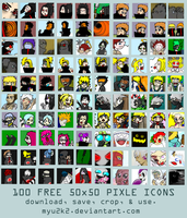 50x50 Pixel Icons 2 by myu2k2