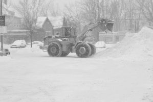 2015 February Snow Storm, BullDozing the Snow 7 by Miss-Tbones
