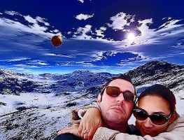 Love at Snowfall Mountains. by olones