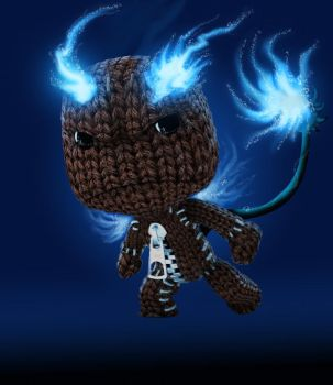 Ao no Sackboy by bowseganonlink