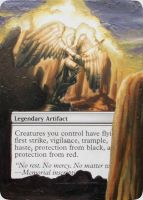 MTG Altered Card: Akroma's Memorial by idielastyr