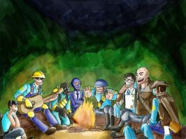 Campfire Stories Blu Version by kytri