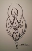 Tattoo Design + Elven cross+ by RadiumIridium