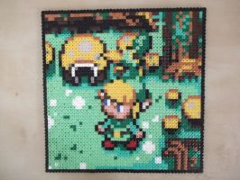 Legend of Zelda made of fuse beads by capricornc5