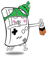 Drunken Gameboy Vector by nrxia