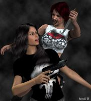 La Femme Punisher vs Poison by hotrod5